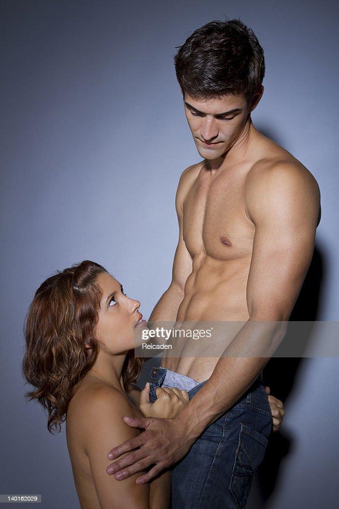 All couple seduces woman