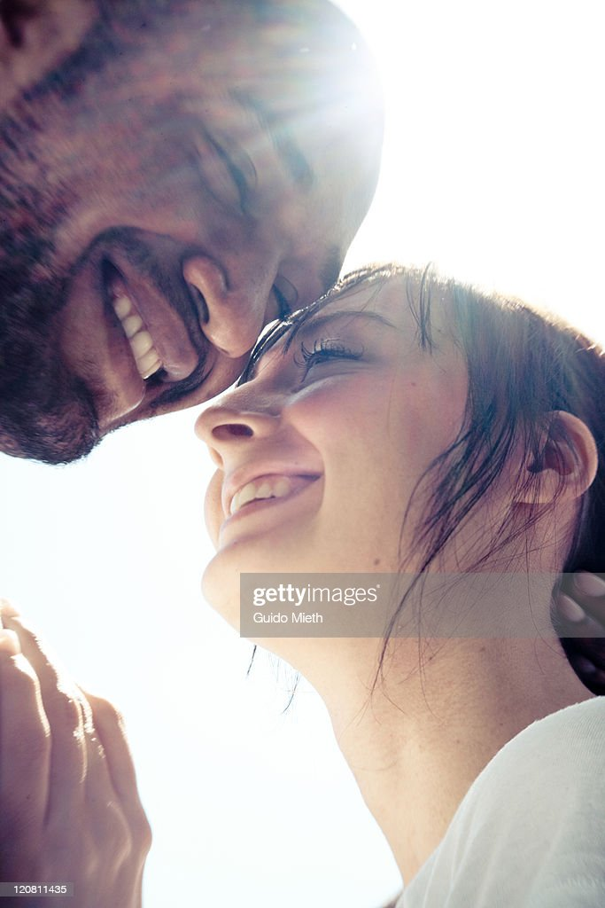 Young couple just before kissing. : Stock Photo