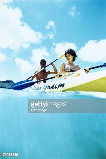 Young couple Kayaking : Stock Photo