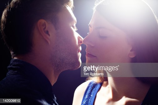 Young couple kissing. : Stock Photo