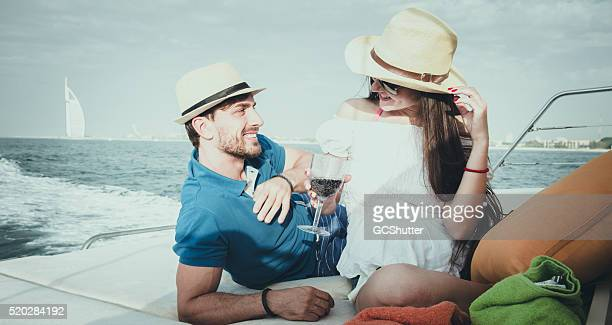 Young Couple of a Yacht