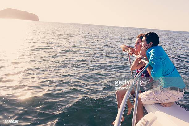 Young Couple on a Boat