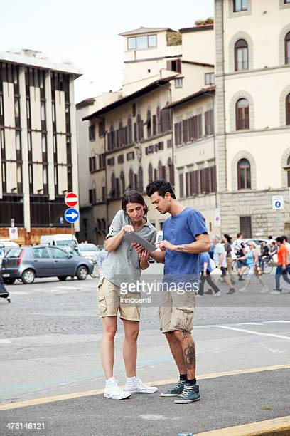 Young couple on city break, Florence, Tuscany, Italy
