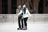 Young Couple On Ice