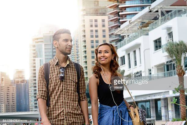 Young couple on vacation in Dubai