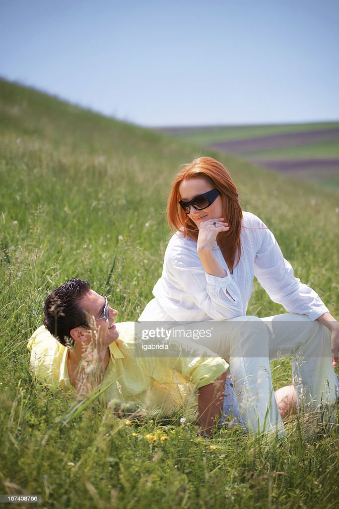 Young couple outdoor : Stock Photo