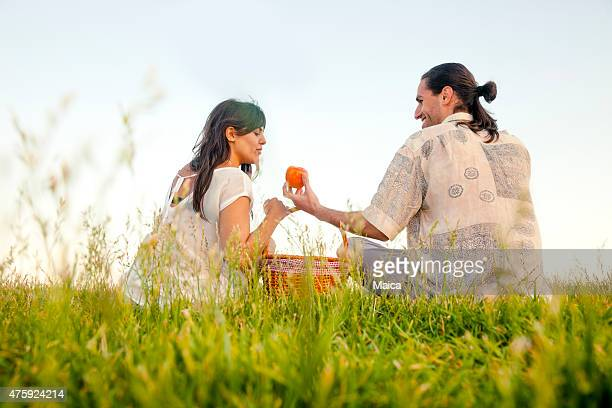 Young couple picnic