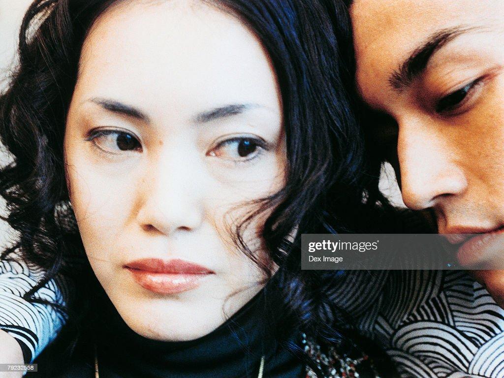 Young couple, portrait, close up : Stock Photo