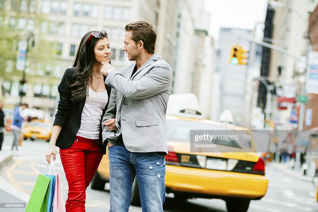 Young Couple Shopping in New York City