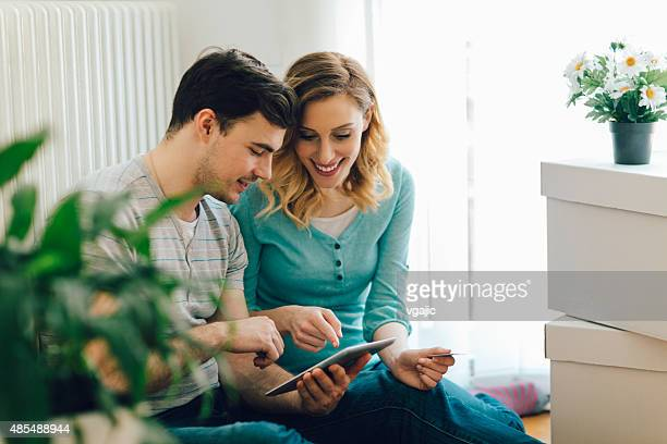 Young Couple Shopping Online WIth Tablet.