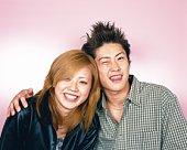Young Couple Smiling, Portrait