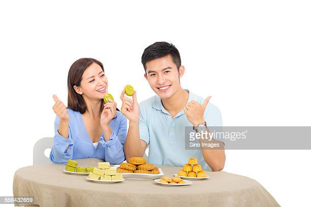 Young Couple Spending Mid-Autumn Festival