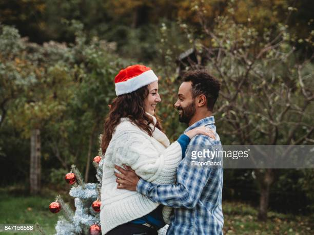 Young couple together for Christmas