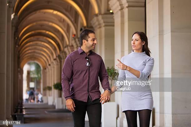 Young Couple Walking through Melbourne
