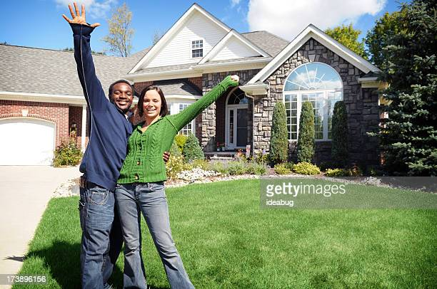 Young Couple with New Home