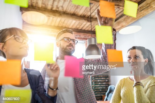 Young creative business people meeting at office. : Stock Photo
