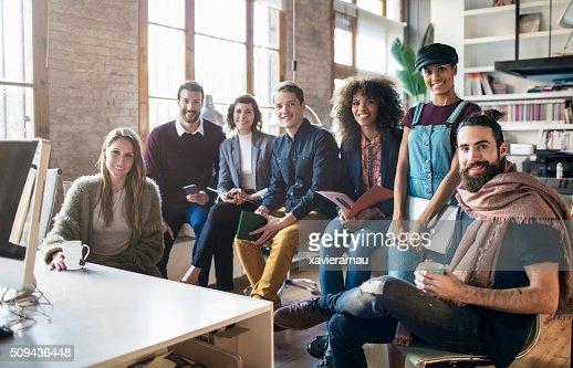 Junge kreative Geschäft Start Personen : Stock-Foto