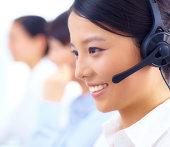 young customer service representative at call center