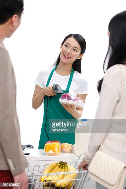 Young customers to pay the cashier