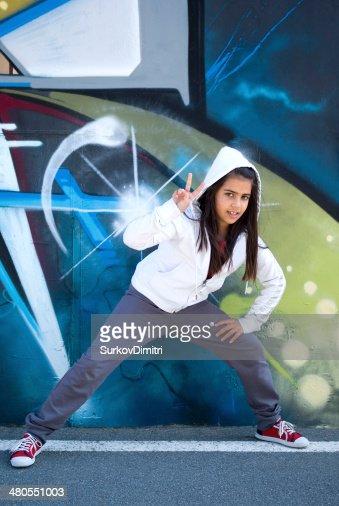 Joven bailarina de Hip-Hop : Foto de stock