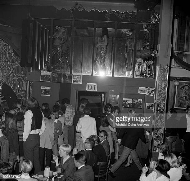 Young dancersdance during a Frank Zappa Concert called a 'Freak Out' at Whisky a Go Go in Los AngelesCalifornia 'n