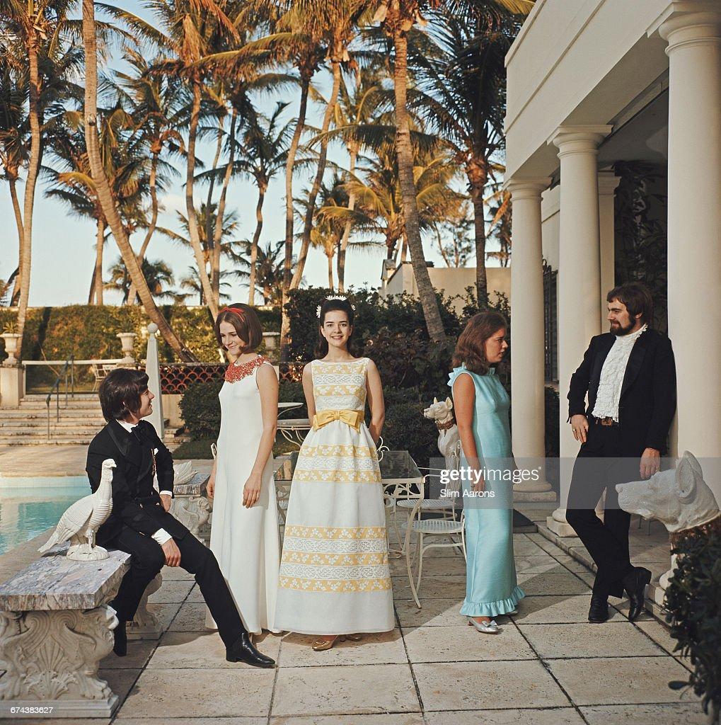 Young debutantes in Palm Beach Florida 1968
