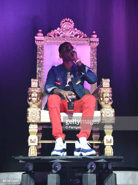 Young Dolph performs during the 'Pretty Girls Like Trap Music' tour at Fox Theater on August 14 2017 in Oakland California
