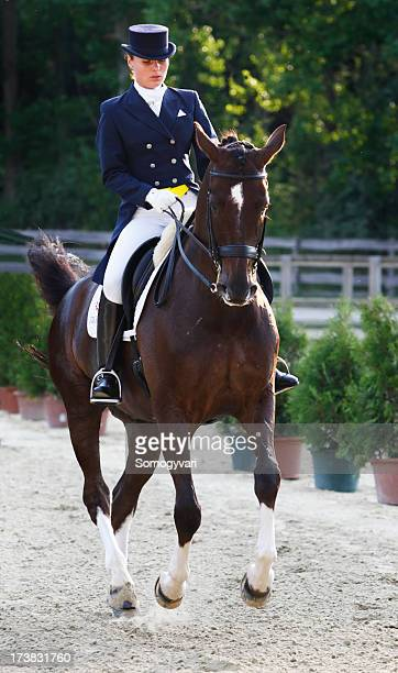 Young dressage rider