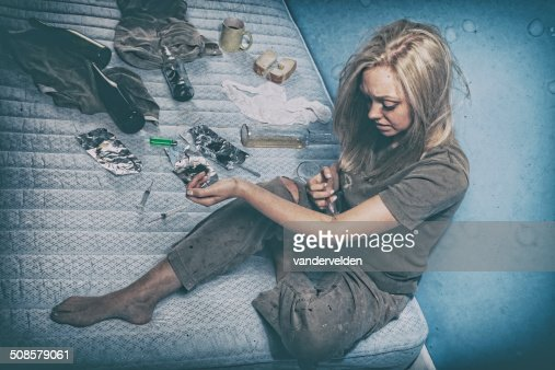 Young Drug Addict : Stock Photo