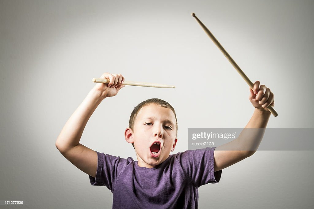 Young Drummer Series : Stock Photo