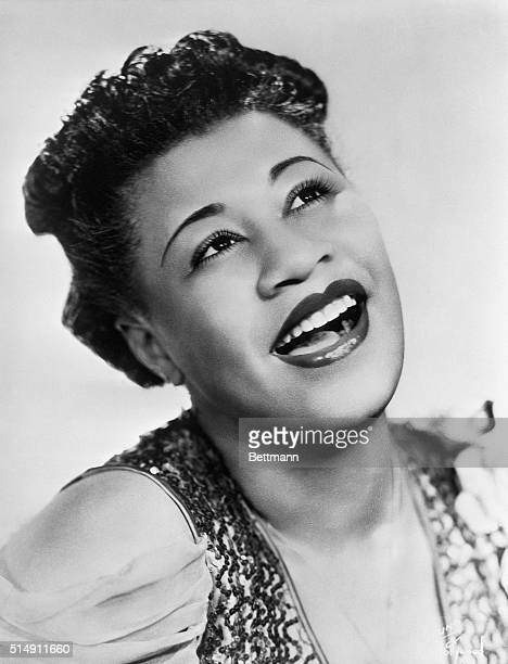A young Ella Fitzgerald singing in the 1940's