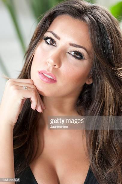 Young engaged Hispanic woman