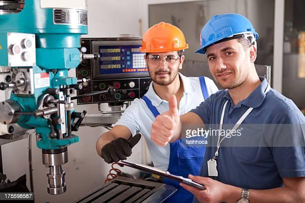 Young Engineer and Foreman