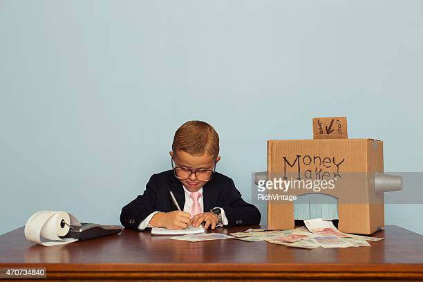 Young English Boy Working to Make Money