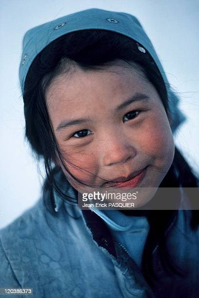 Young Eskimo girl in Alaska United States