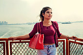 Young Ethnic Woman on Staten Island Ferry