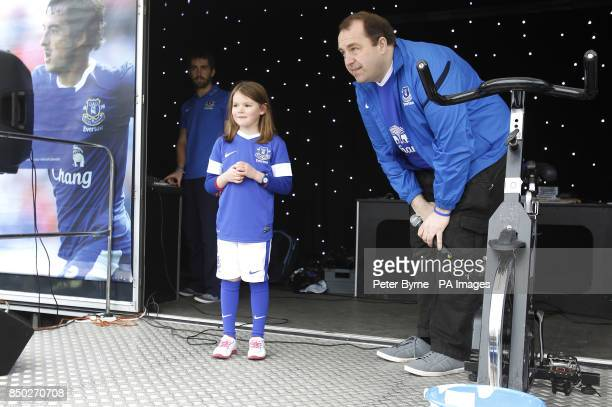 A young Everton fan on the Everton Roadshow stage