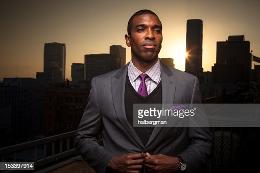 Young Executive and City : Stock Photo
