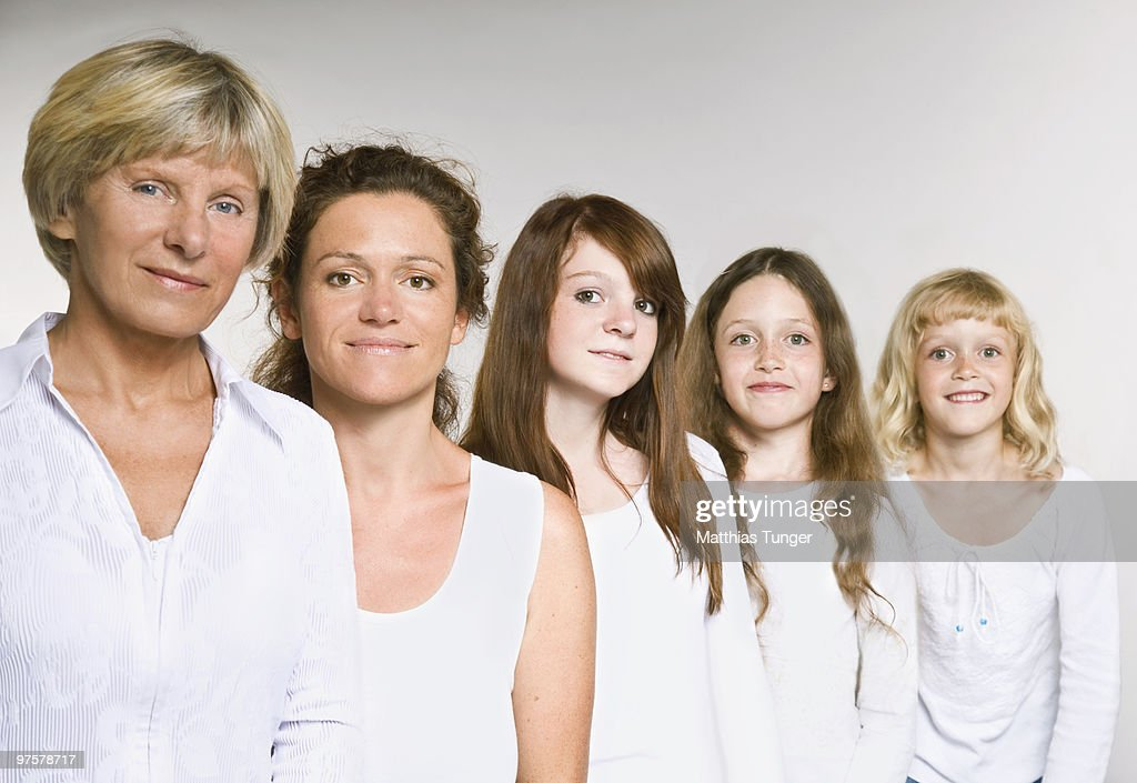 Young family and grandparents