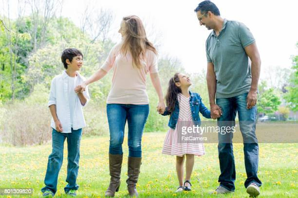Young Family at the Park