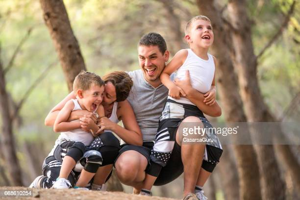Young Family Enjoying Togetherness