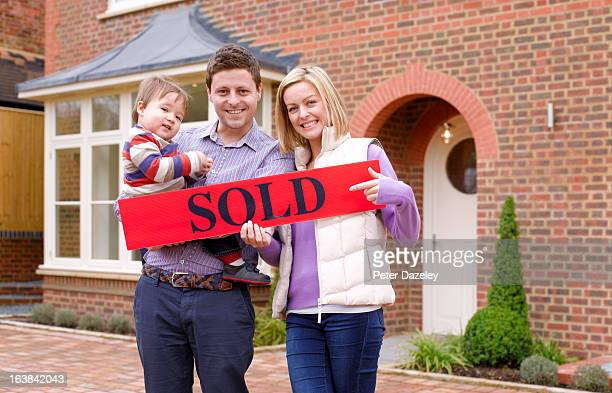 Young family having bought new house