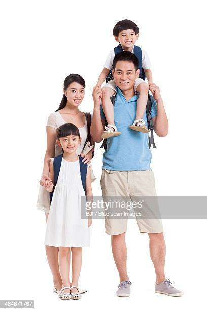 Young family in travel