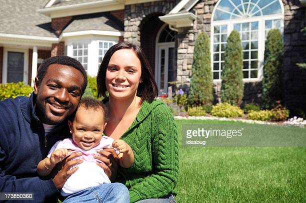 Young Family with New Home