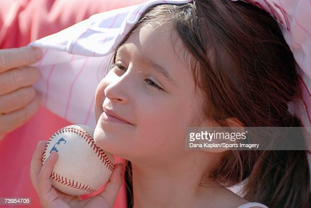 A young fan at Shea Stadium during a game against the Atlanta Braves and New York Mets on April 21 2007 in Flushing New York