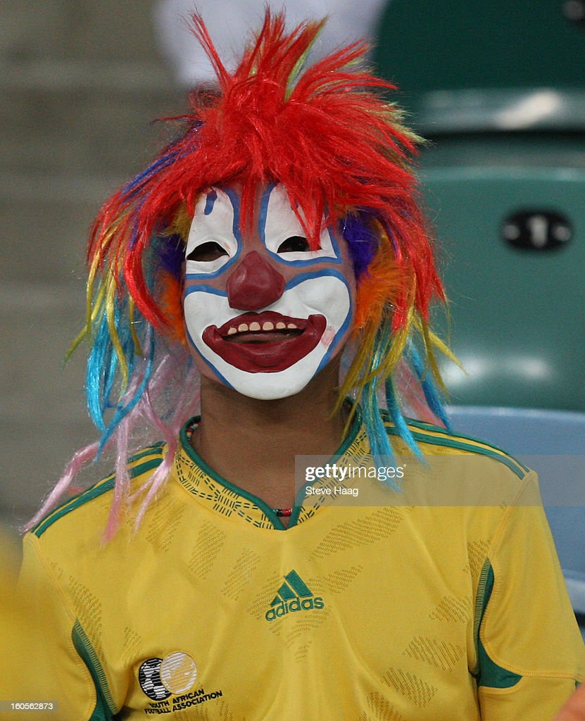 A young fan during the 2013 African Cup of Nations Quarter-Final match between South Africa and Mali at Moses Mahbida Stadium on February 2, 2013 in Durban, South Africa.