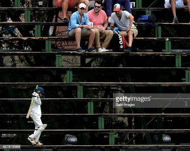 Young fan in his kit during day 2 of the 1st Test match between South Africa and India at Bidvest Wanderers Stadium on December 19 2013 in...