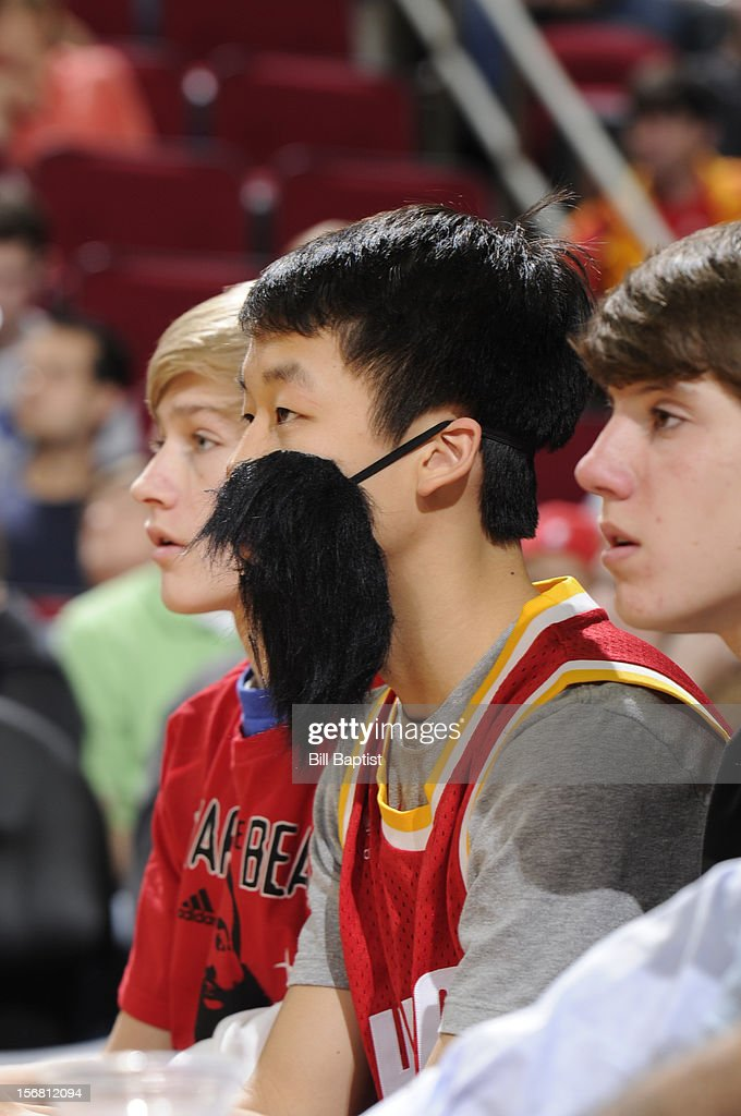 A young fan of James Harden #13 of the Houston Rockets shows his support during the game against the Chicago Bulls on November 21, 2012 at the Toyota Center in Houston, Texas.