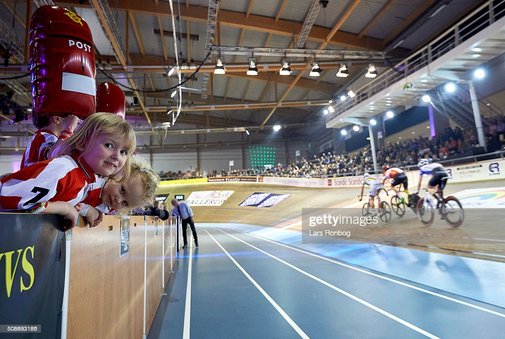 Young fans cheer during day four at the Copenhagen Six Days Race Cycling at Ballerup Super Arena on February 7, 2016 in Ballerup, Denmark.