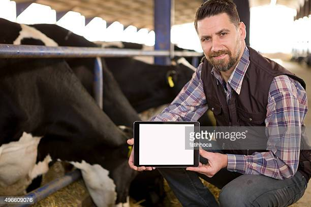 Young Farmer and Digital Tablet